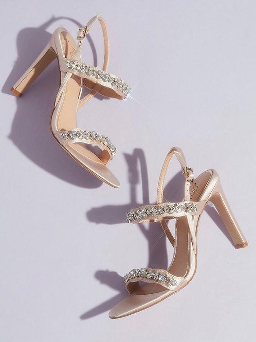 Badgley Mischka Crystal Embellished Sandal