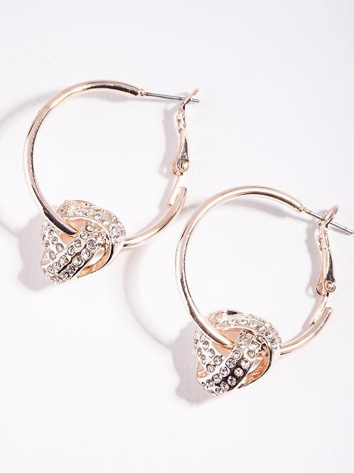 Sia Knot Gold Circle Earrings