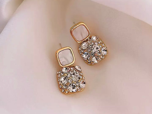 Bianca Nude Crystal Earrings