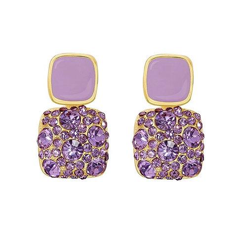 Bianca Purple Crystal Earrings