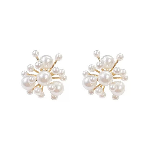 Anaya fresh water pearl stud earrings white