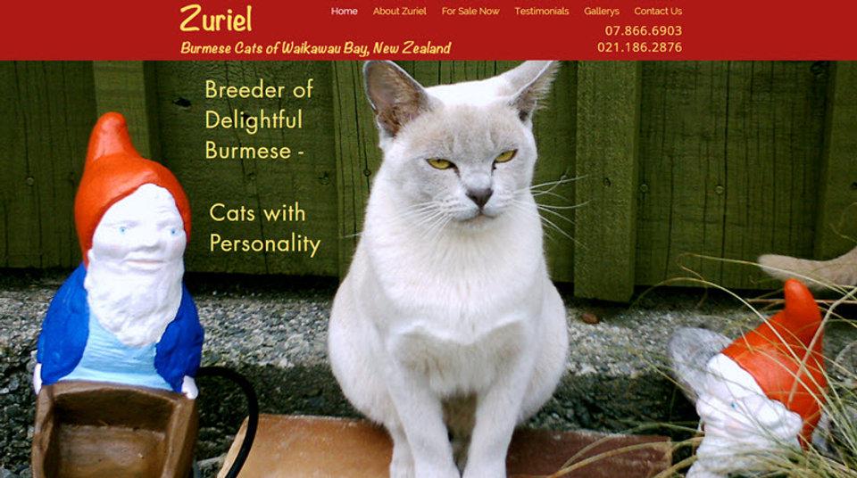 Zuriel Cat Breeders website home page