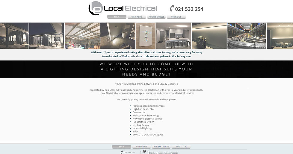 Local Electrical web site designed by wooppee websites