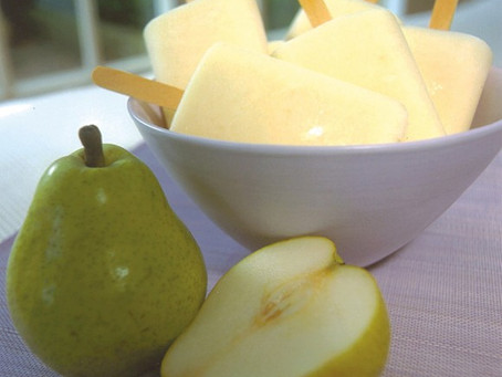 Yummy Yogurt Pear Pops