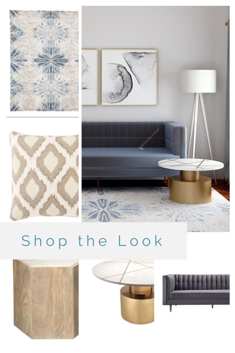 Shop these individual items to create a modern lounge with gray tones.