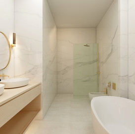 Bathroom Design with marble