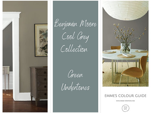 Benjamin Moore  Cool Grey Collection - Green Undertones