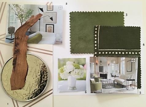 Inspiration board for green interior