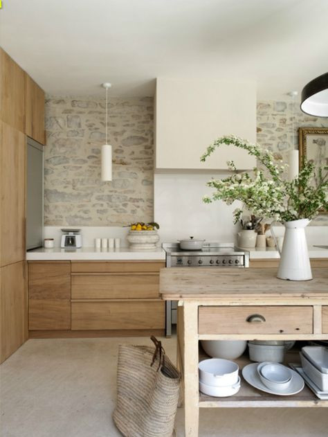 Bring texture and nature into your home with a stone wall.