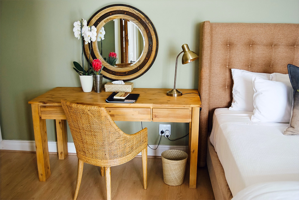 Wooden furniture and other wooden elements in the home.