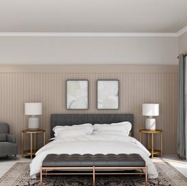 Pink and Grey Bedroom Design