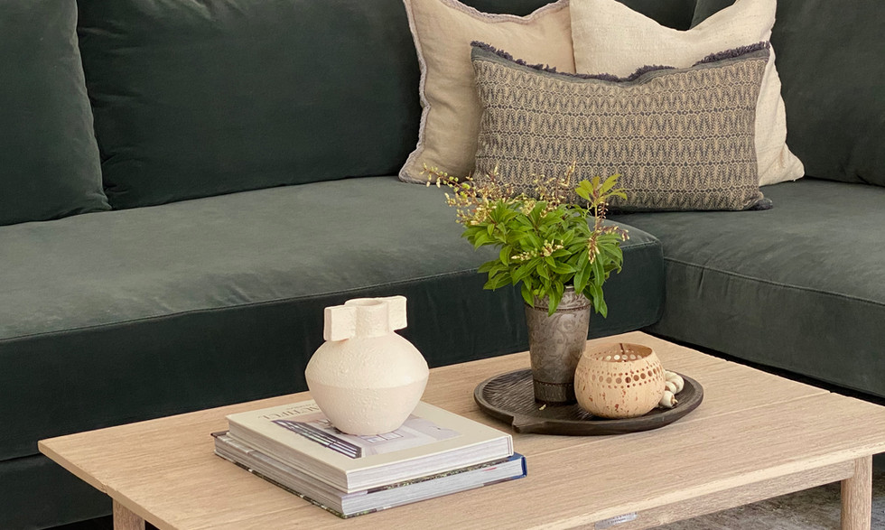 Styling of coffee table