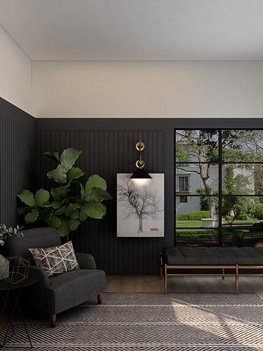 Rendered image of e-design for a bedroom
