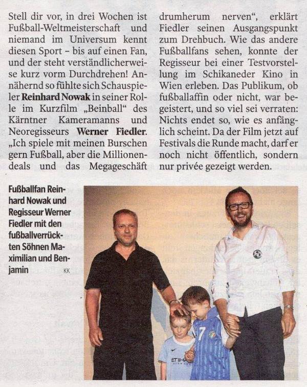 Presseauszug KLEINEN ZEITUNG