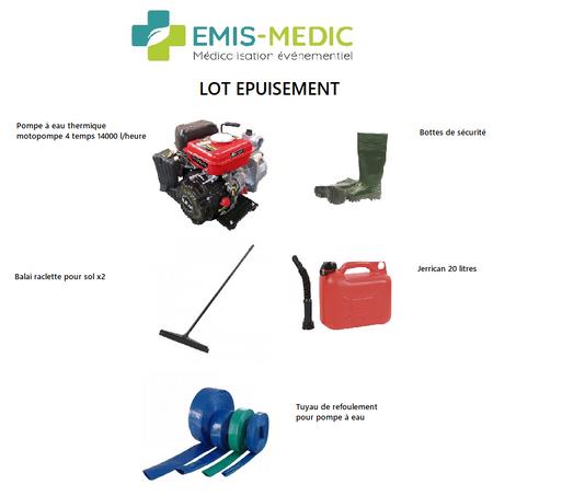 LOT EPUISEMENT EMIS-MEDIC