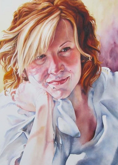 """""""Pensive"""" accepted into the 2013 American Watercolor Society Show NYC and travelling show"""