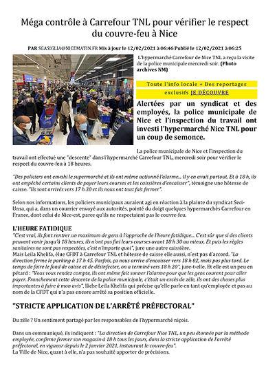 Méga contrôle à Carrefour TNL pour vérif