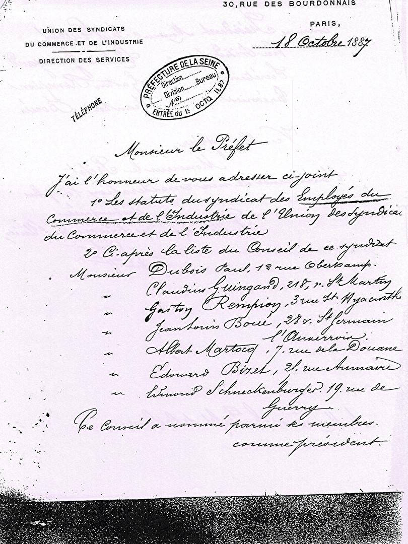 statut du Seci de 1887 p1