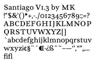 Santiago Typeface