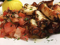 Fried Octopus Italian Lunch Brickell Key Brasserie