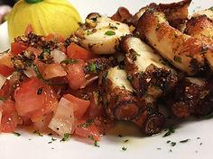 Fried Octopus Italian Lunch Brickell Key Brasserie