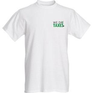 We Do Taxes t-Shirt Chest Logo