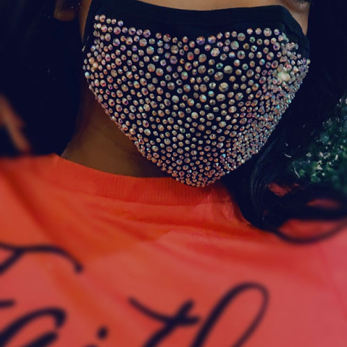 """Rona Stylin"" Diamond Studded Mask"