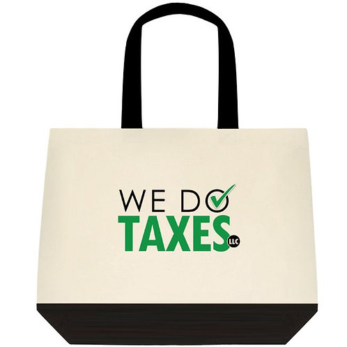 We Do Taxes Deluxe Tote Bag
