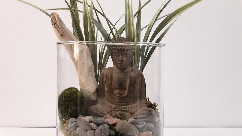 Vase cylindrique de 5'' de style zen
