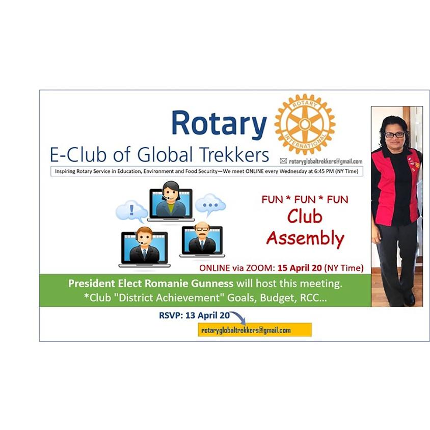 FUN * FUN * FUN - Rotary Club Assembly