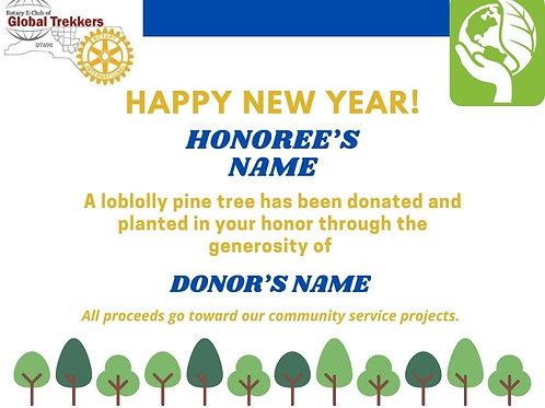 HAPPY NEW YEAR TREE CERTIFICATE
