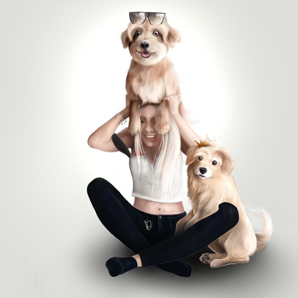 Swedish YouTuber Therese Lindgren with Rasmus & Ronja