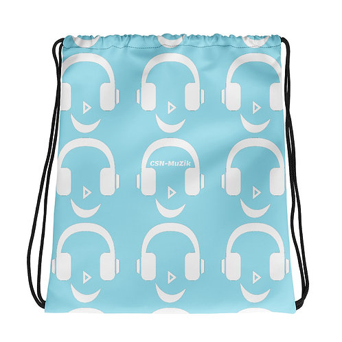 Blue Candy Drawstring bag