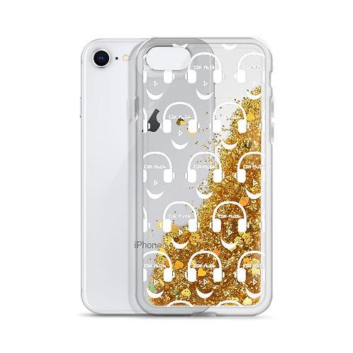 Gold Liquid Glitter Phone Case