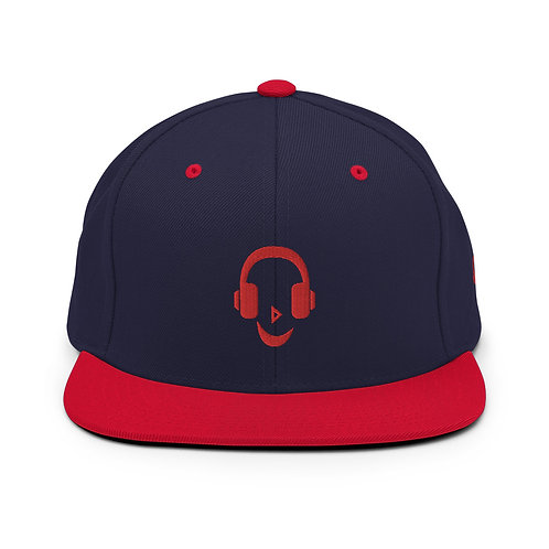 Black/Navy/Red Snapback