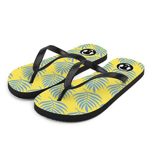 Hawaiian Yellow Flip-Flops