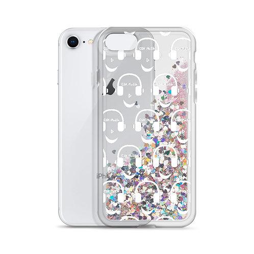 Pink Liquid Glitter Phone Case