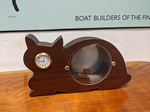Cat Clock Bank