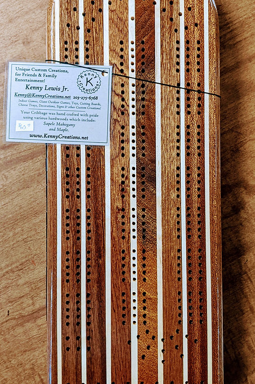 Kenny Creations Cribbage Board