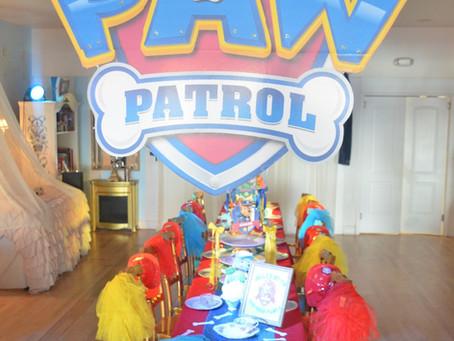 Paw Patrol Theme || Puppy Tea Party || Miami Tea Party Venue || Miami Tea Party Room