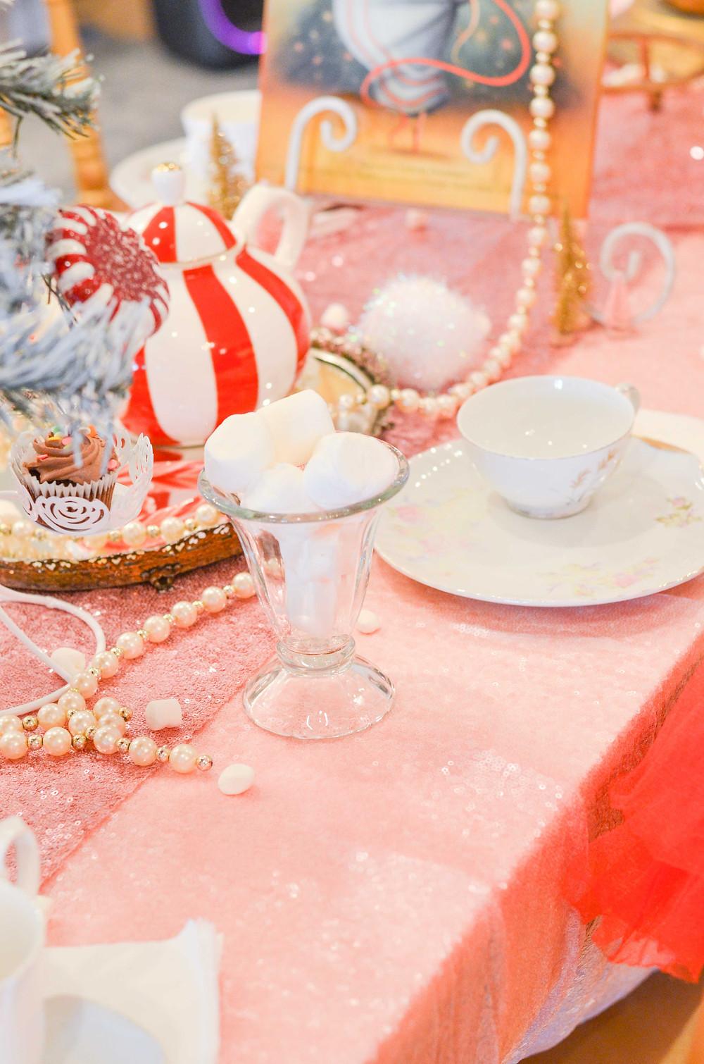 nutcracker tea party set up for kids