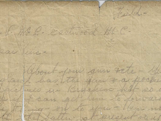 Letter to Vincent from Cpt. Rayward