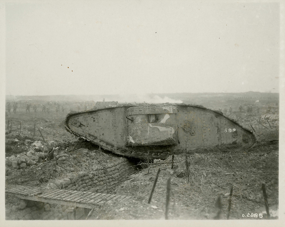 Tank in use at Vimy  Ridge