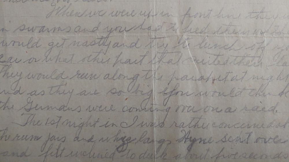 October 30 Letter from Vincent McCarter Eastwood