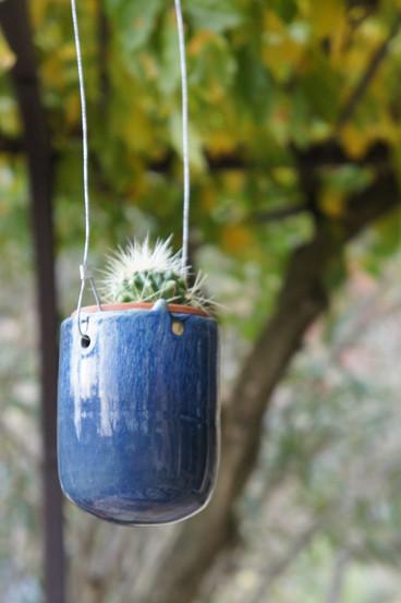 Cache-pot suspendu (sans le cactus) 25€