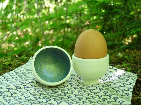 Mini-coquetier porcelaine 8€ l'unité
