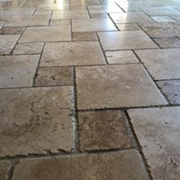 Nichols Hills Stone Cleaning Before