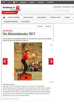 Hamburg 2016 Chimichurri Circus on Klines Fest