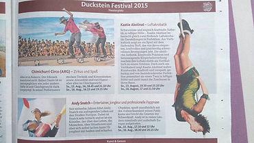 Duckstein Fest Alemania Chimichurri Circus