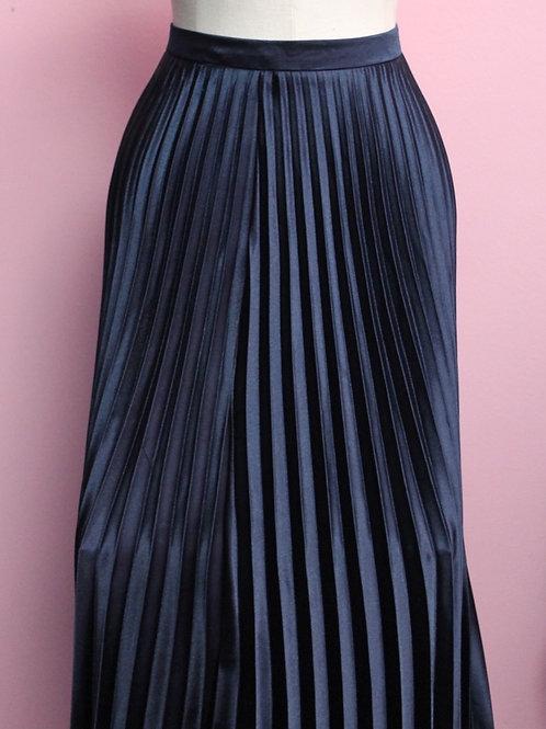 Navy Blue Flare Skirt